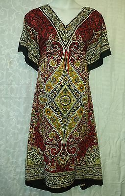 Women Kaftan African Dress Caftan Poncho Gown Boho Dashiki Red Lime Free Size