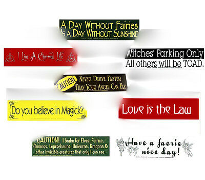 Bumper Sticker - Wicca, Pagan, Magic, Angels - choose from Set 1