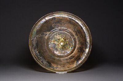 Large Ancient Roman Glass Dish / Plate - 350 AD