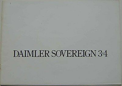Daimler Sovereign 3.4 original UK Sales Brochure 1975