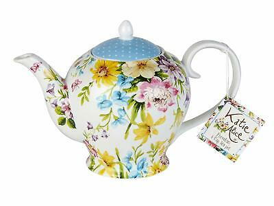 KATIE ALICE 'English Garden' SHABBY CHIC 6 Cup Porcelain TEAPOT