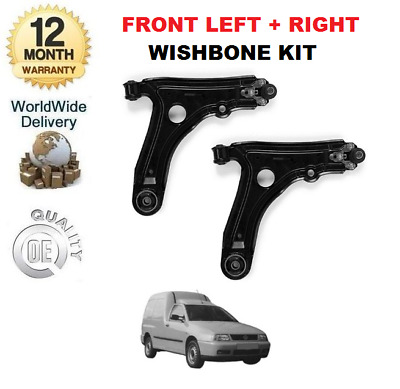 For Volkswagen Vw Caddy Pick Up 1998-2004 New 2X Wishbones Suspension Arms
