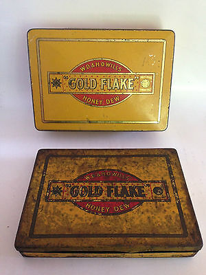 VINTAGE COLLECTABLE TIN - W D & H O WILLS GOLD FLAKE CIGARETTES TINS - OLD TIN
