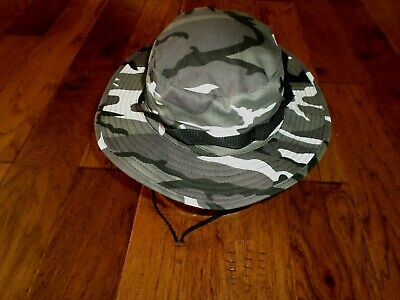 Urban Camouflage Bucket Boonie Floppy Hat Camouflage Military Style  7 1/2