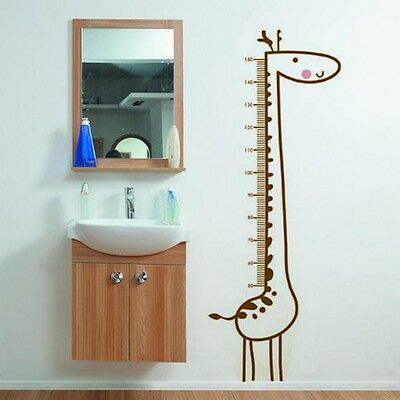 Cute Giraffe Vinyl Removable Wall Sticker Mural Kid Child Height Chart Measure