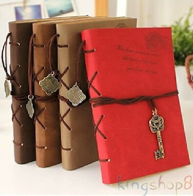 Classic Retro Vintage Leather Notebook Bound Blank Page Journal Diary Ebay Hot