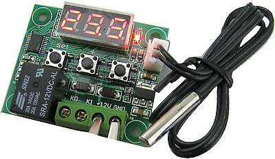 DC12V Heat cool temp Thermostat temperature control switch Thermometer -50-110°C