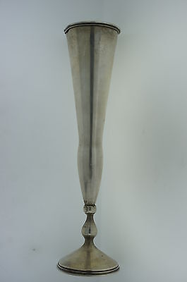 C.1900 RUSSIAN FLOWER VASE SILVER 84 BY KXLEBNIKOV SIGNED STAMPED