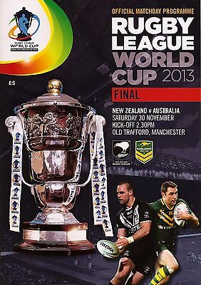 AUSTRALIA v NEW ZEALAND RUGBY LEAGUE WORLD CUP FINAL 2013 MINT
