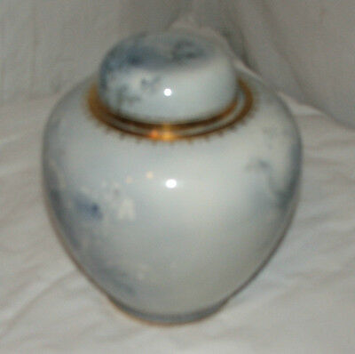 VINTAGE Retro BURLEIGH Ware FLORAL Decorative BLUE Vase POTTERY
