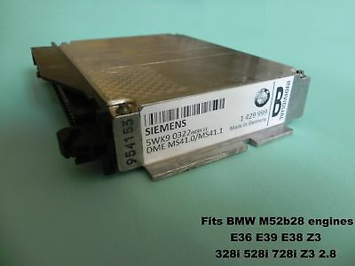 Chip Tuned ECU EWS OFF BMW E36 Z3 E39 E38 M52 328i 528i 728i 255Hp MS41.1 MS41.0