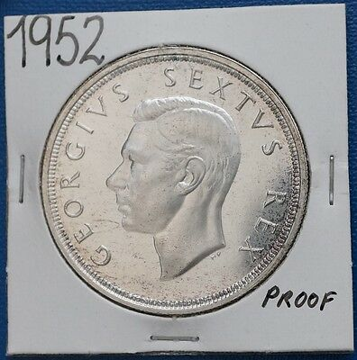 1952 South Africa 5 Shillings KM# 41 Silver Coin Capetown Crown Proof