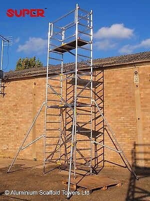 SUPER DIY 6.5M (Base Plates) - Aluminium Scaffold Tower Towers Free Next Day Del