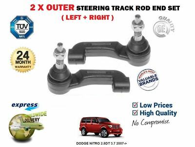 FOR DODGE NITRO 2.8DT 3.7 2007->  2x OUTER STEERING TRACK TIE RACK ROD END