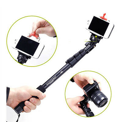 Extendable Telescopic Handheld Monopod Tripod Adapter for GoPro iphone New