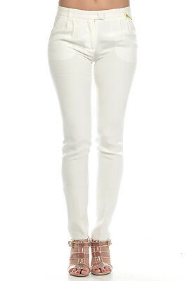 ETRO New Woman PURE SILK Ivory Trouser Pants sz 40 ita Made in Italy Offer Sale