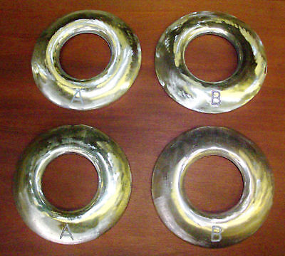 Quoits,4 lb., Polished Bronze,Horse Shoes,A+B pairs made in the U.S.A.