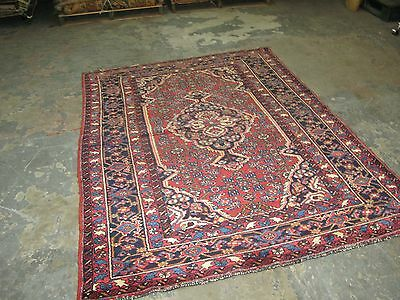 Vintage Persian Angelas Hand Knotted Wool Area Oriental Rug 4'-9 x 6'-9