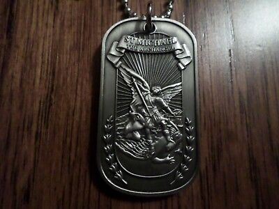 St. Michael Archangel Religious Dog Tag Marine Corps Army Navy Air Force