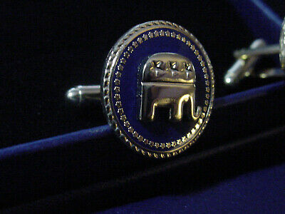 Pair of  new  presidential Republican cufflinks  Elephant
