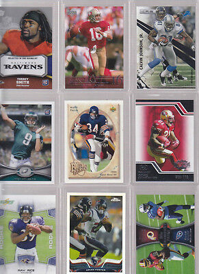 HUGE PREMIUM FOOTBALL CARD COLLECTION LOT MANNING BRADY FAVRE ROMO NAMATH RICE