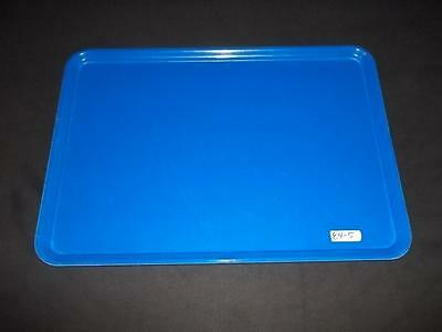 """(12) Carlisle 14 3/4"""" x 20 7/8"""" Cobalt Blue Serving Tray Cafeteria Buffet Tray"""