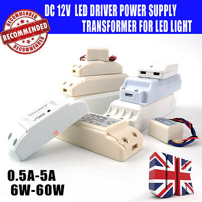 LED Driver Transformer DC 12v-6w, 10W 12w, 18w, 30w,40W for MR11, MR16 LED Strip