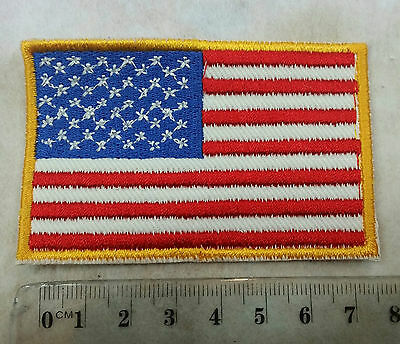 United States USA Flag Embroidered Sewn On Patch New