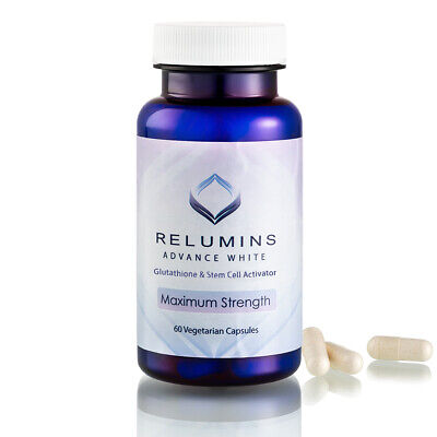 Relumins Advanced White Oral Glutathione White Caps NEW w/ Rose Hips*