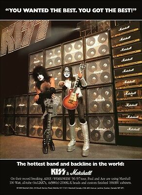 KISS Paul Stanley - Ace Frehley Marshall Amps Stand-Up Display