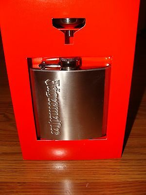 Jagermeister Stainless Steel 6oz Flask - NEW - with funnel