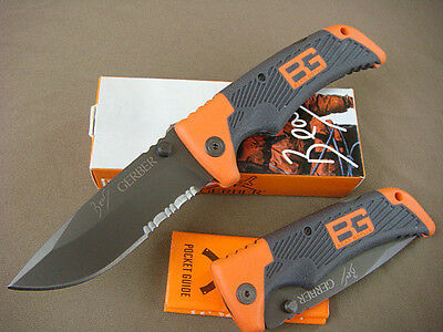 Super GB Folding Knife Survival Series  ESSENTIAL Serrated Outdoor Tool  k126 wq