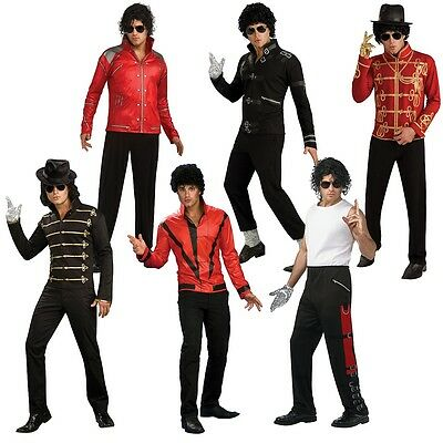 Michael Jackson Costume Adult 80s Pop Star Halloween Fancy Dress Outfit