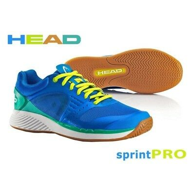Head Sprint Pro Indoor Badminton Squash Trainer Shoe Blue / Green