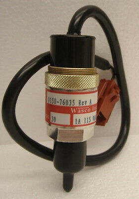 AMAT 0150-76035 Wasco Pressure Switch Set: 2 PSIG Operate Decreasing 1/4 VCR
