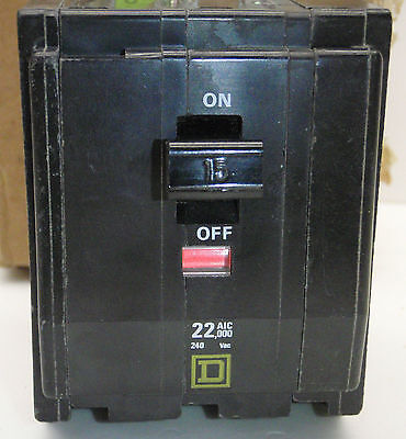AMAT 0680-01569 Square D QOB315VH5237 Bolt-on Circuit Breaker 3-Pole 15 Amps 240