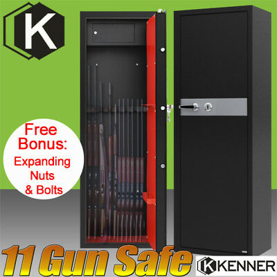 11 Rifle Storage Gun Safe Key Lock Firearm box Steel Cabinet VSAFE 10