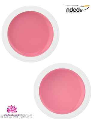 Gel Uv Monophase Rosé 3 En 1  Nded  Base Construction Finition Faux Ongles