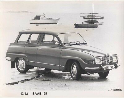 Saab 95 Press Photograph 1972