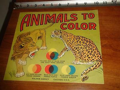 BU914 Vintage Unused Animal Coloring Book Ad Thorogood Children's Shoes