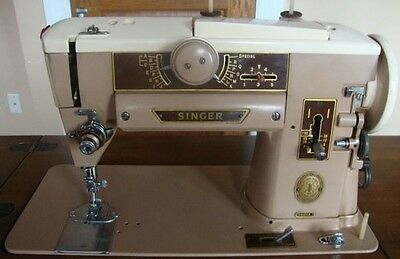 Vintage Singer 401A Slant-O-Matic Heavy Duty Sewing Machine manual, extra parts