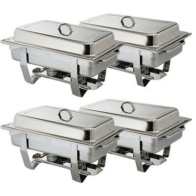 Pack Of 4 Premium Quality S/Steel Chafing Dish Sets ***Free Next Day Delivery***