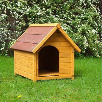 Wooden Dog Kennel Spike Standard - optimally protects against rain