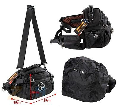 Lightweight Durable Camera Bag w/ Padded Lining for Nikon Canon DSLR Cameras