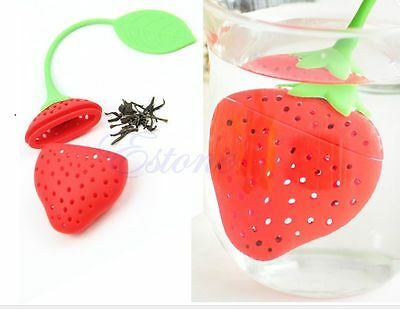 Tea Strawberry Infuser Loose Green Infusion Leaf Strainer Herbal Spice Silicone