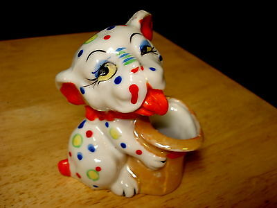 Vintage Japan Bonzo Dog Lusterware Planter Toothpick Holder