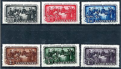Slovakia Ww2 German Puppet State 1942 Scott 77-82 Perfect Mnh