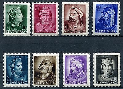 Slovakia Ww2 German Puppet State 1944 Scott 95-102 Perfect Mnh