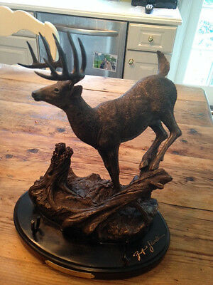 """Limited Edition Ducks Unlimited Branford Williams Sculpture """"Hard Right"""""""