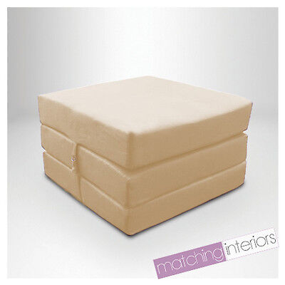 Stone Splashproof Wipe Clean Fold Out Cube Mattress Guest Z Bed Chair Bed Futon